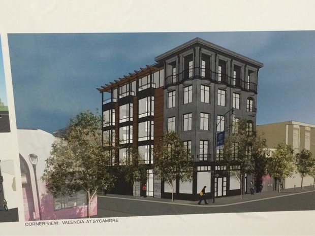 Drafts of a proposed condominium at 647 Valencia - DARIUS LOCK