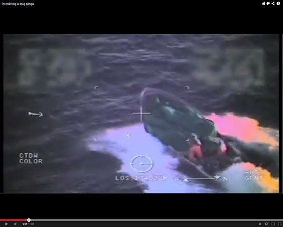 Drugs by sea - US COAST GUARD/YOUTUBE