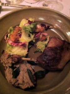 Duck Confit and Liver Toast at Chez Panisse - MOLLY GORE