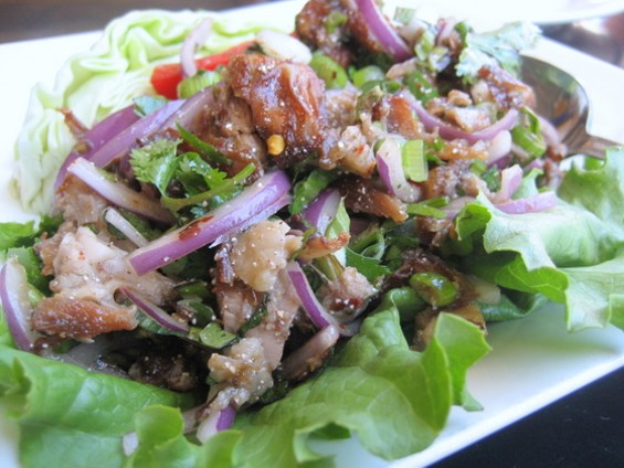 Duck larb ($8.95) from Thai House Express. - JONATHAN KAUFFMAN