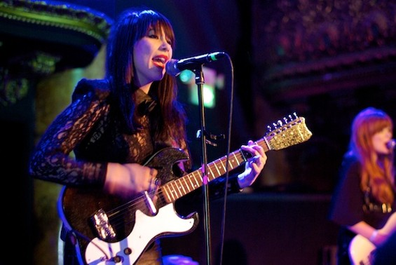 Dum Dum Girls at Great American Music Hall last night. Photo by the author, more after the jump.