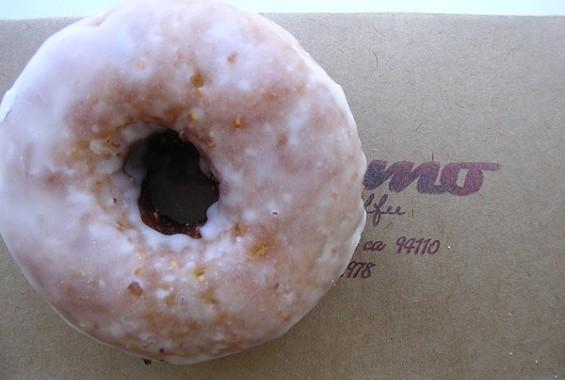 Dynamo's cornmeal cherry-rosemary doughnut. - JOHN BIRDSALL