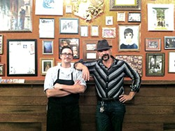 MOLLY GORE - Easy Creole co-owners Jaron Thomson and Grant Gooding.