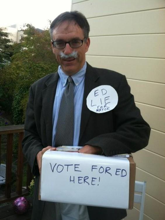 Ed Lie for Mayor costume gets our vote - VIA TWITTER @MURPHSTAHOE
