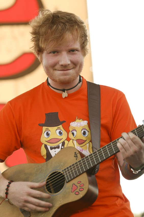Ed Sheeran, the English squeal-inducer. - ALL PHOTOS BY CHRISTOPHER VICTORIO FOR SF WEEKLY
