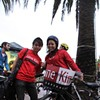 Jane Kim Supporters Stump for Votes at Illegal Bicycle Parade
