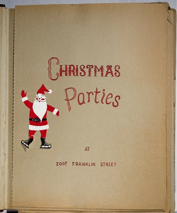 "Elizabeth Lilienthal Gerstley's ""Christmas Parties"" album contains 201 photographs taken inside the Haas Lilienthal House at 2007 Franklin Street, San Francisco, between 1954 and 1971. - THE MAGNES MUSEUM"