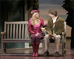 PAUL  KOLNIK - Elle (Laura Bell Bundy) is smitten with fellow law-school student, Emmett, in Legally Blonde: The Musical.
