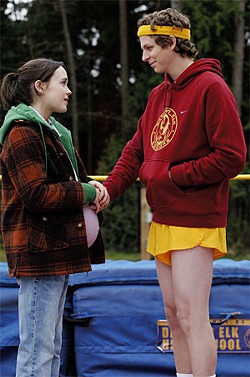 © FOX SEARCHLIGHT PICTURES - Ellen Page plays a high-school girl who gets pregnant. Paulie (Michael Cera) is the daddy.