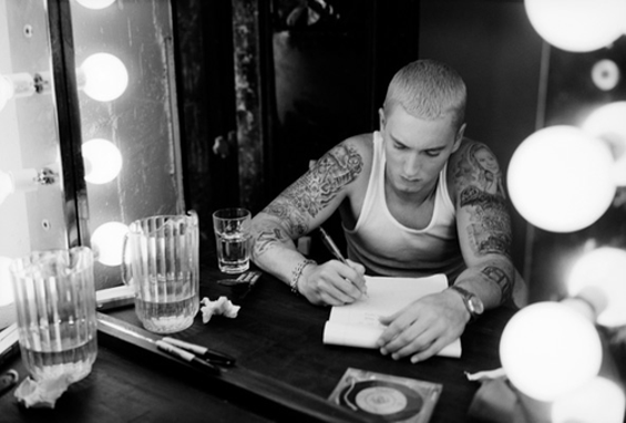 Eminem's closet is also his home office. - LAST.FM