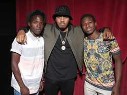 "TODD WILLIAMSON/GETTY IMAGES FOR BOND/360 - Eric Egesa, Nasir ""Nas"" Jones, and Fahad Kiryowa."