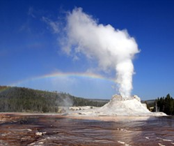Eruptions of water are more picturesque in Yellowstone Park than South of Market