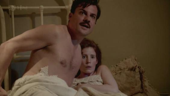 Ethel and Major Mustache, coitus interruptus.