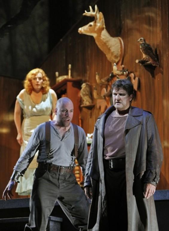 Eva-Maria Westbroek (as Sieglinde), Raymond Aceto (as Hunding), and Christopher Ventris (as Siegmund) - CORY WEAVER