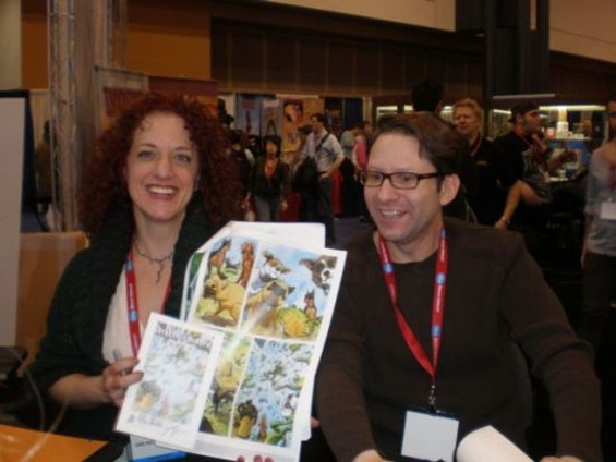 """Evan Dorkin with his """"Beasts of Burden"""" collaborator Jill Thompson at this year's New York Comic Con"""