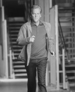 Eye of the needle: In  24, Kiefer Sutherland plays Jack Bauer, a - government agent who has 24 hours to stop an assassination attempt.
