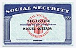Fake Social Security cards, like this one, cost $40 to - $50 in the Mission.