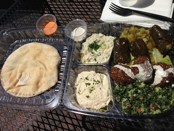Falafel Tazah's Vegetarian Combination Plate - TREVOR FELCH