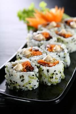 Fancy-pants rolls like this may be distracting Americans from the fact that our sushi isn't so good anymore. - DAN PERETZ / SHUTTERSTOCK