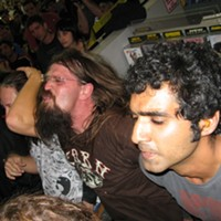 High On Fire at Amoeba Records, SF Fans, formerly of good homes. By David Downs