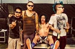 Fat Mike, at far right, is a punk-rock millionaire.