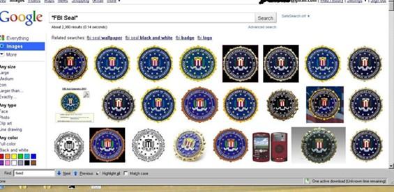 FBI seal, FBI seal, FBI seal, FBI seal...