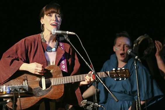 Feist at the Warfield last night. - CHRISTOPHER VICTORIO