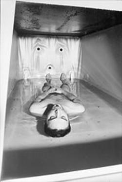 PAUL  TRAPANI - Fernando Vega in an isolation chamber.