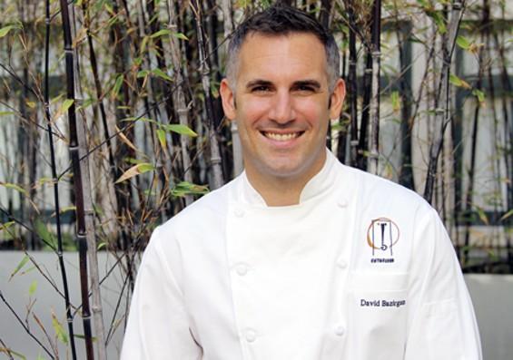 Fifth Floor chef David Bazirgan teaches a basil class on July 27. - SF CHEFS