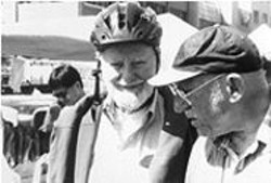 Fighting a Worthy Fight: Ferlinghetti (left) and Bauersfeld.