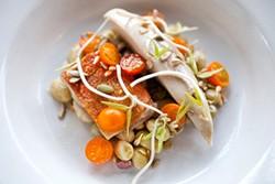 LARA HATA - Fine dining at a neighborhood restaurant: Rich Table's buttermilk-poached chicken.