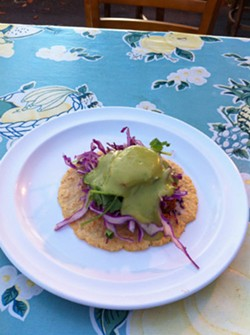 "Flaco's magically meatless ""Taco Especial"" - MOLLY GORE"