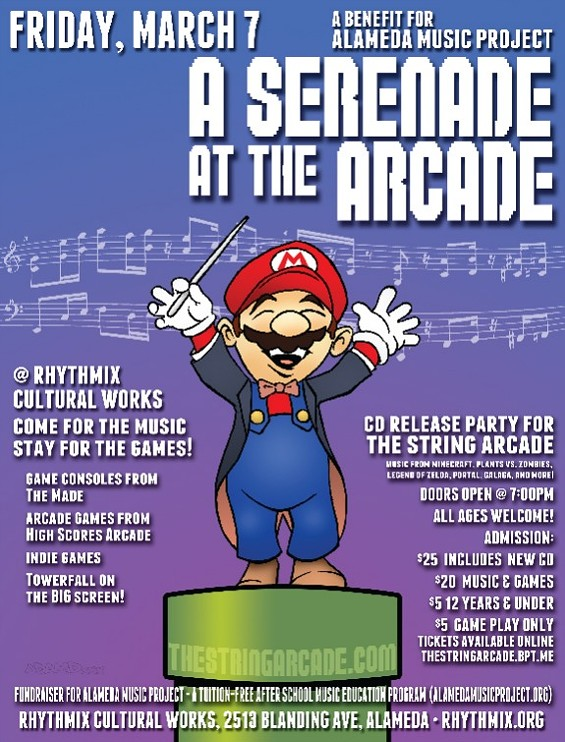 Flier for Serenade at the Arcade - THE ALAMEDA MUSIC PROJECT