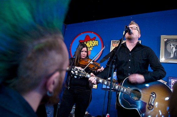 Flogging Molly at Amoeba Music in S.F. yesterday - GIL RIEGO