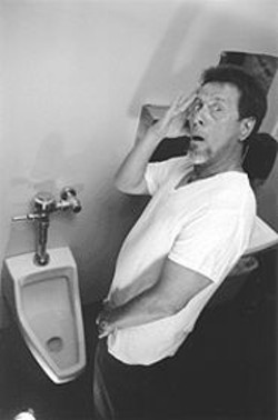 JOEGH  BULLOCK - Flush Dance: Bob Ernst meets Death -- talking on a cell phone and using the next urinal -- in The John.