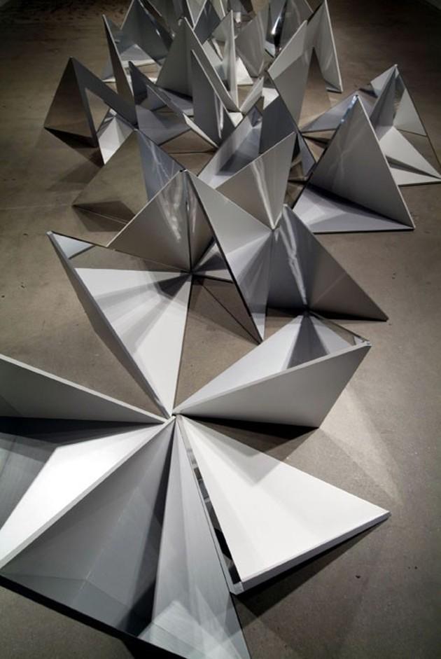folded metal night