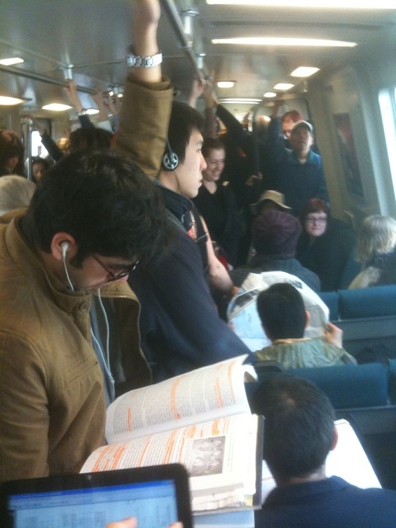 Following this morning's incident in the transbay tunnel, BART experienced long delays and crowded trains - WILL HARPER