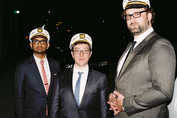Food Club captains Aziz Ansari, Eric Wareheim, and Jason Woliner.
