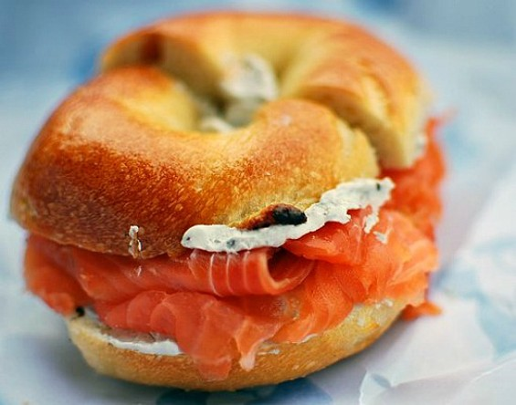 For many ex-New Yorkers, it doesn't get much better than Russ & Daughters bagels. - YELP/MATTHEW M.