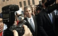 Former Enron CFO Andy Fastow, seen here - at the after-party.
