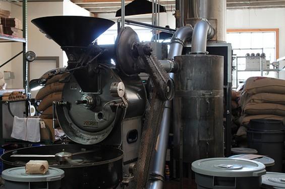 Four Barrel's Probat roaster. - MICHELLEYSBELLY/FLICKR
