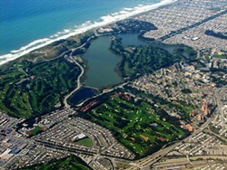 Four of San Francisco's nine golf courses surround Lake Merced. - TOLKA ROVER/FLICKR