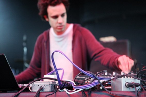 Four Tet's Kieran Hebden tried to warm up the crowd with shifting, organic beats - JOSEPH SCHELL