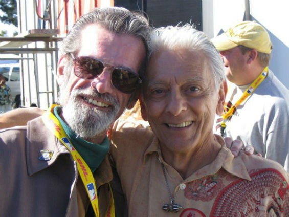 Frank Kidder (l), Creator of the San Francisco International Standup  Comedy Competition with José Simon (r), Creator of Comedy Day