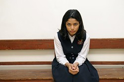 Freida Pinto plays the Palestinian girl of the title.