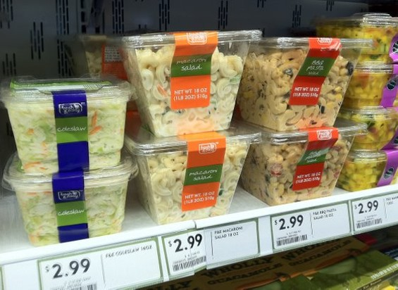 Fresh & Easy's prepared salads are attractively packaged. - JONATHAN KAUFFMAN