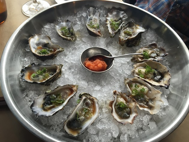 These oysters at ICHI Kakiya could have been served at Unreal Arithmetic. - PETER LAWRENCE KANE
