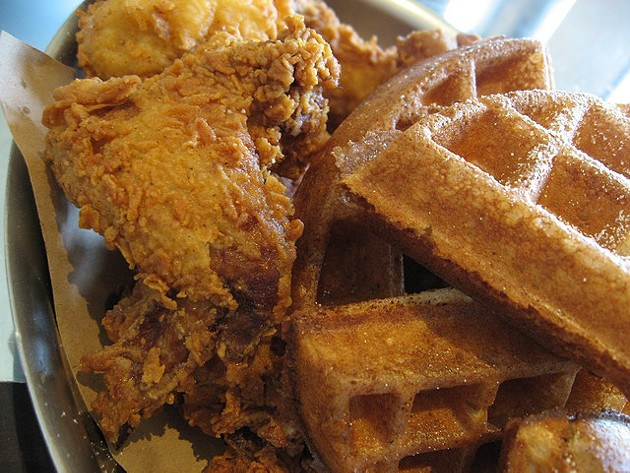 Fried chicken and waffles is a favorite comfort food of many. - FLICKR/ARNDOG