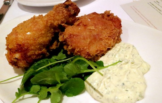 Fried chicken at Mason Pacific. - THE DAPPER DINER