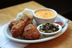 GABRIELLE LURIE - Fried chicken, meaty collards, cheesy grits, and a Brenda's biscuit: What else do you want in life?